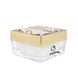50g Gold Cap Transparenter Body Square Kosmetikcremetopf